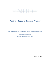 The Anti-Bullying Research Project Report front page preview