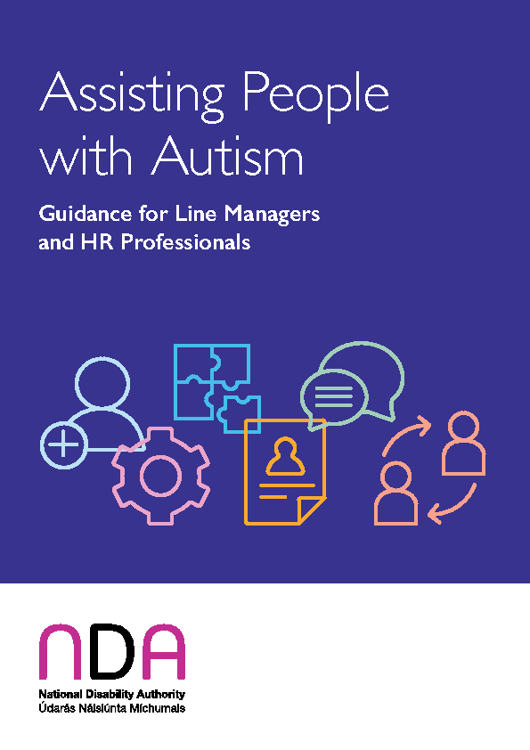 Assisting People with Autism Guidance for Line Managers & HR Professionals front page preview