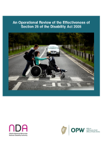 Operational Review of the Effectiveness of Section 25 of the Disability Act 2005 front page preview