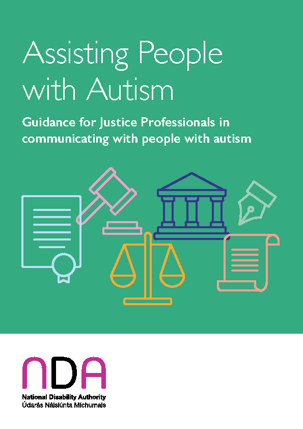 Guidance for Justice Professionals in communicating with people with autism front page preview