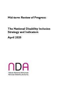 Mid-term Review of Progress under the National Disability Inclusion Strategy Indicators front page preview