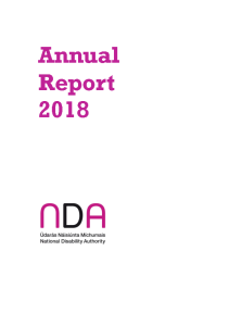 NDA Annual Report 2018 front page preview