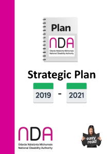 Strategic Plan 2019 - 2021 Easy to Read front page preview