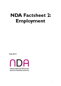 NDA Factsheet 2 - Employment Briefing Information front page preview