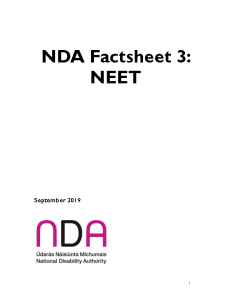 NDA Factsheet 3 NEET Briefing Information front page preview