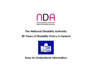 20 Years of Disability Policy Easy to Read front page preview