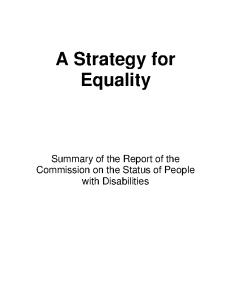 A Strategy for Equality front page preview