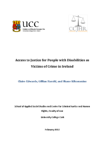 Access to Justice for People with Disabilities as Victims of Crime in Ireland front page preview