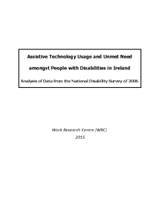 assistive technology usage and unmet need amongst people with