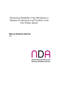 Disclosing Disability in the Workplace front page preview