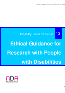 Ethical Guidance for Research with People with Disabilities front page preview