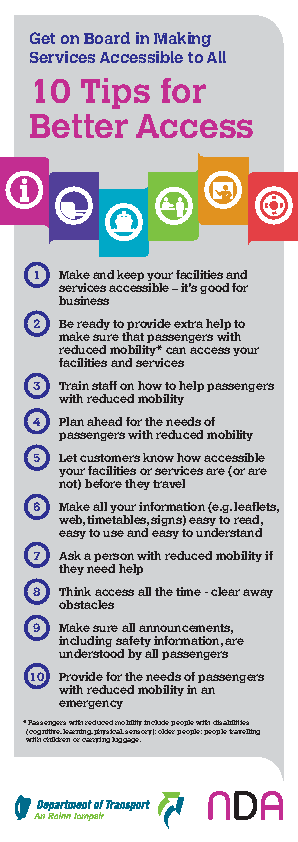 Get on Board in Making Services Accessible to All - 10 Tips for Better Access front page preview