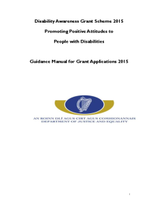 Guidance Manual Disability Awareness Raising Grant Scheme 2015 front page preview