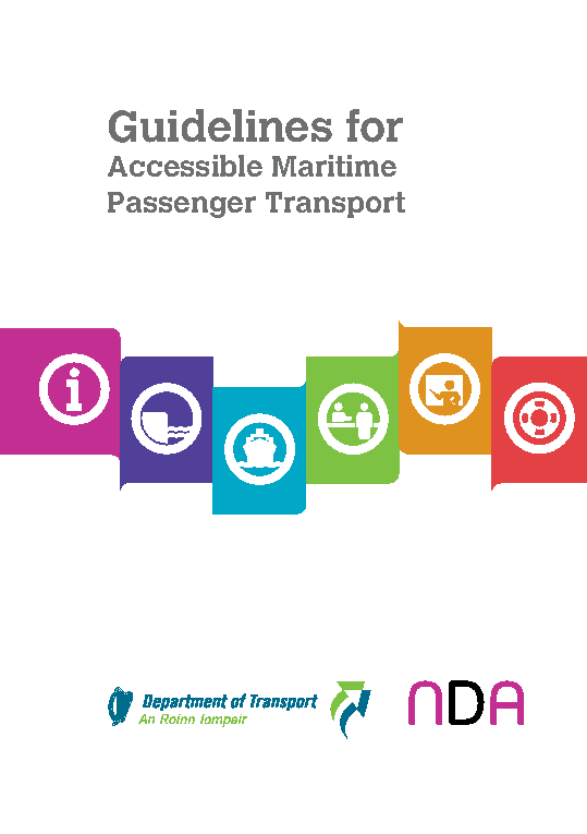 Guidelines for Accessible Maritime Passenger Transport front page preview
