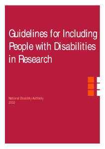 Guidelines for Including People with Disabilities in Research front page preview