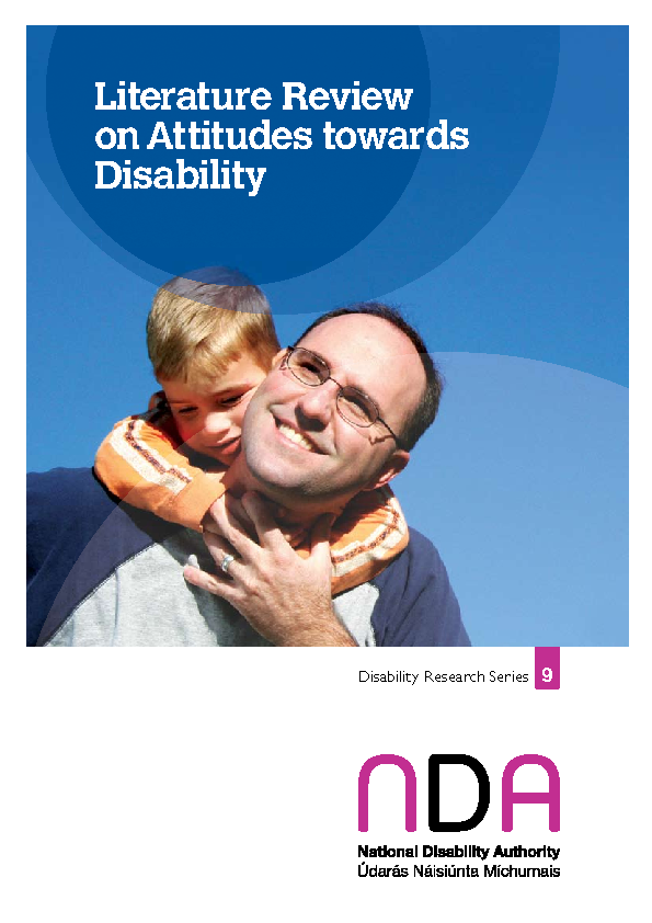 Literature Review of International Evidence on Attitudes to Disability 2007 front page preview
