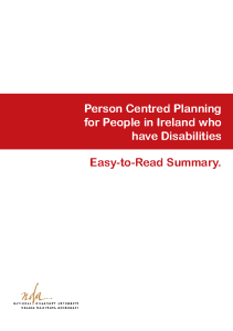 Person Centred Planning Guidelines Easy to Read front page preview