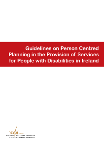 Person Centred Planning Guidelines front page preview