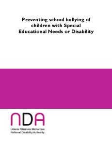Preventing School Bullying front page preview