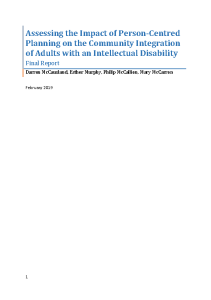 Assessing the Impact of Person-Centred Planning on the Community Integration of Adults with an Intellectual Disability front page preview