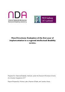 New Directions Evaluation of the first year of implementation in a regional intellectual disability service front page preview