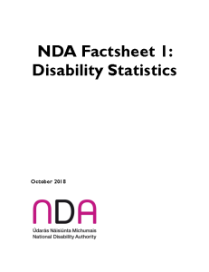 NDA Factsheet 1: Disability Statistics briefing information front page preview